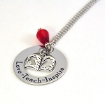 Love Teach Inspire Teacher Necklace