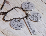 Missionary Mom Brag Necklace with ONE Missionary Name Dates and Country