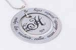 Personalized Family Tree Necklace Jewelry Genealogy Monogram