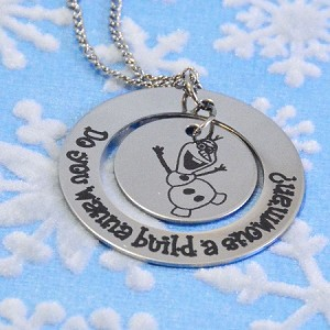Frozen - Olaf Necklace - Personalized