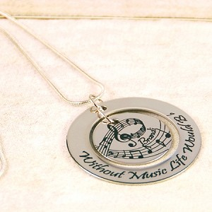 Personalized Music Necklace