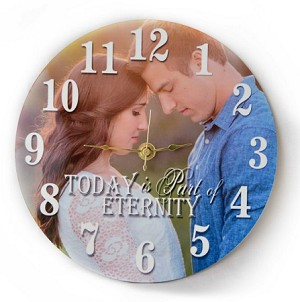 Elegant Timeless Photo Personalized Time Piece Wall Clock